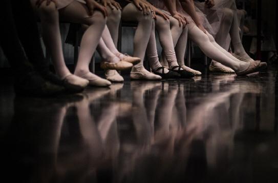 Nahaufnahme Balletschuhe
